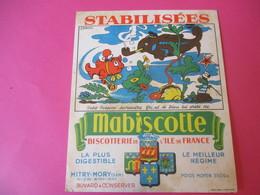 Buvard//Stabilisées/MABISCOTTE/Petit Poisson .../Biscotterie Ile De France/MITRY-MORY(S&M)/NUEZ/Vers1940-60  BUV444 - Zwieback