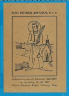 Holycard    St. Petrus Ascanus - Devotion Images