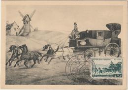 Carte-Maximum FRANCE N° Yvert 919 (MALLE-POSTE) Obl Sp Ill 1er Jour (Ed Bourg) - 1950-59