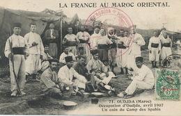 Oudjda Occupation Avril 1907 Spahis Cachet Depot Remonte Mobile  Tresor Et Postes Boumendil Taourirt - Maroc