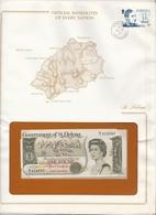 Government Of St Helena One Pound Billet Dans Son Enveloppe De Presentation - Saint Helena Island
