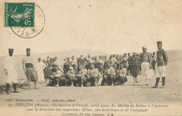 Oudjda Occupation Avril 1907 Mhella Du Sultan Iflene Tirailleur Casanova Du 2 Eme Zouaves Vers Spahis Sidi Bel Abbes - Maroc