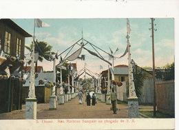 S. Thomé Rua Matheus Sampaio Na Chegada De S;A.  Edit Braz - Sao Tome Et Principe