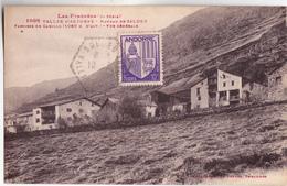 CPA - ANDORRE - Vallée D' Andorre HAMEAU De SALDEU Paroisse De Camillo (1.060 M Alt) Vue Générale Voy 1929 Ou 1939 - Andorra