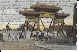 CHINA CHINE PEKING PEKIN Gateway Porte , Animée , 1910 , No Stamp - Chine