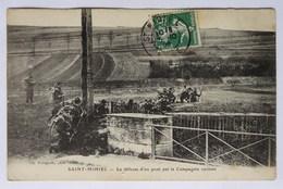 Cpa Saint-Mihiel, (55), La Défense D'un Pont Par La Compagnie Cycliste, Militaria, éditeur Foliguet - Saint Mihiel
