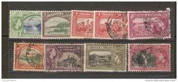 TRINIDAD & TOBAGO - 1953 QEII Views Used  SG 267/8 & 270/6 - Trinidad & Tobago (...-1961)