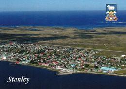 1 AK Falkland Islands * Blick Auf Stanley - Die Hauptstadt Liegt Auf Der Insel Ostfalkland - Luftbildaufnahme * - Falkland