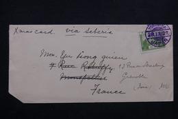 JAPON - Enveloppe De Yokohama Pour La France En 1927 Par Voie De Sibérie , Oblitération De Yokohama En Bleu - L 23561 - 1926-89 Empereur Hirohito (Ere Showa)
