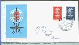 SURINAME - FDC 1962  -  MALARIA  ZANZARA - Malattie