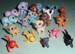 Lot De 20 Mini-figurines Littlest Pet Shop, Kinder ?? Animaux Miniatures - Monoblocs