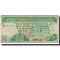 Billet, Mauritius, 10 Rupees, Undated (1985), KM:35b, TB - Mauritius