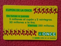SPAIN CALENDARIO DE BOLSILLO CALENDAR 1998 ESPAGNE ONCE ORGANIZACIÓN NACIONAL CIEGOS NATIONAL ORGANIZATION FOR THE BLIND - Tamaño Pequeño : 1991-00