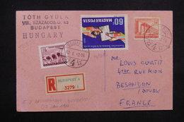 HONGRIE - Carte De Correspondance En Recommandé De Belgrade Pour La France En 1960 - L 23563 - Briefe U. Dokumente