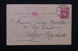 MALTE - Entier Postal De Valletta Pour Le Maroc En 1907 - L 23564 - Malte