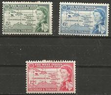 TRINIDAD & TOBAGO - 1958 Caribbean Federation MH *  SG 281-3 - Trinidad & Tobago (...-1961)