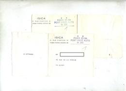Bande Journal Isica Port Paye Paris 25 Bis - Cachets Manuels