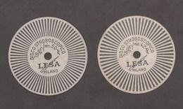 Musica Audio Giradischi - 2 Dischi Stroboscopici Vintage 78 Giri Marca Lesa - Altre Collezioni