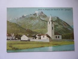 """Cartolina """"Mount La Magna And Church - BASEGLIA"""" Inizi '900 - GR Grisons"""