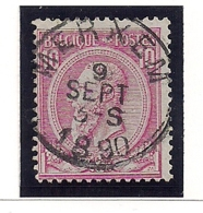 NR46-AFSTEMPELING MERXEM - 1884-1891 Léopold II