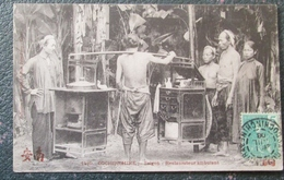 Indochine Restaurateur Ambulant  Cpa Timbrée - Viêt-Nam