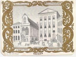 """BRUGES-BRUGGE""""A LA VIELLE BOURSE-J.COCKELAERE BOGAERT-DINERS ET LOGEMENT """"LITH.DAVELUY-135/103MM - Cartes Porcelaine"""