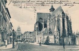 CPA - Belgique - Bruxelles - Eglise N. D. Du Sablon Et Rue De La Régence - Monumenten, Gebouwen