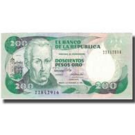 Billet, Colombie, 200 Pesos Oro, 1989, 1989-11-01, KM:429d, TTB+ - Colombie