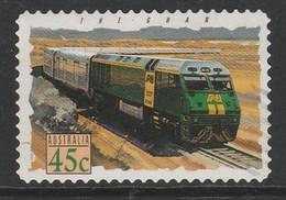 Australia 1993 Popular Trains 45 C Red  SW 1356 O Used - 1990-99 Elizabeth II