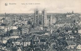 CPA - Belgique - Bruxelles - Eglise Ste Gudule Et Panorama - Panoramische Zichten, Meerdere Zichten