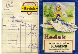Ancienne Pochette Pour Négatifs Et Photos, Vide - KODAK - Villefranche De Rouergue - Zubehör & Material