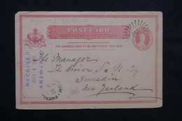 QUEENSLAND - Entier Postal Pour La Nouvelle Zélande En 1895 - L 23574 - Briefe U. Dokumente