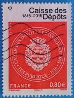 France 2016 : Bicentenaire De La Caisse Des Dépôts N° 5045 Oblitéré - France