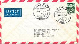 Denmark Air Mail Cover Saltum 20-8-1971 Special Postmark SUN & SUMMER - Danemark