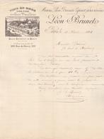 75 Paris Bercy Vins En Gros Léon Brunet & Espirat Frères. Correspondance Illustré&e De 1891.  Tb état. - France