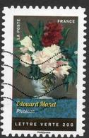 2015 Edouard Manet Pivoines: Valeur Faciale 0,68 € Timbre Oblitéré De FRANCE Bouquets De Fleurs - France