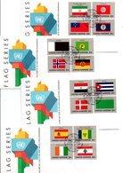 ONU SERIE DES DRAPEAUX 1988 - Timbres