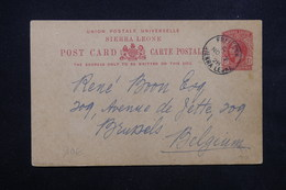 SIERRA LEONE - Entier Postal De Freetown Pour Bruxelles En 1928 - L 23577 - Sierra Leone (...-1960)