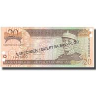 Billet, Dominican Republic, 20 Pesos Oro, 2002, 2002, Specimen, KM:169s3, NEUF - Dominicaine