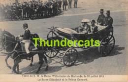 CPA VISITE DE S M LA REINE WILHELMINE DE HOLLANDE LE 26 JUILLET 1911 LA REINE ELISABETH ET LE PRINCE CONSORT BRUXELLES - Familles Royales
