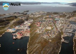 1 AK Grönland Greenland * Blick Auf Die Hauptstadt Nuuk - Luftbildaufnahme * - Grönland