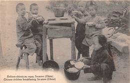 ¤¤  -  CHINE  -  SWATOW   -  Enfants Chinois Au Repas   -  ¤¤ - Chine