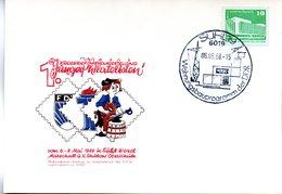 """(DDR-B3) DDR Sonderkarte """"1. Kreis-BM-Ausstellung Junger Philatelisten Suhl"""", EF Mi 2484, SSt.6.5.1988 SUHL 19 - Briefe U. Dokumente"""