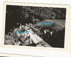 WW2 PHOTO ORIGINALE Soldats Allemands Parc Château à LAVAL Ou Proche 53 MAYENNE 1943 N°7 - 1939-45