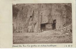 CHINE - CHINA -  HONAN - SHE KOU SZE : Grottes Et Statues Bouddhiques - Cachet De La Poste 1923 - Chine