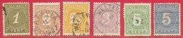 Indes Néerlandaises N°17 à 22 1883-90 O - Indes Néerlandaises