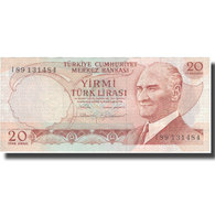 Billet, Turquie, 20 Lira, 1970, 1970-01-14, KM:187b, TTB+ - Turquie