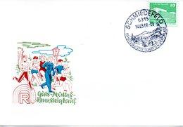 """(DDR-B3) DDR Sonderkarte """"Guts-Muths-Rennsteiglauf"""", EF Mi 2484, SSt.14.5.1988 SCHMIEDEFELD - Briefe U. Dokumente"""