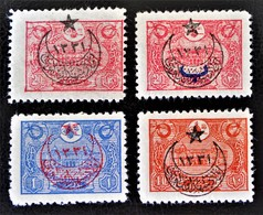 SURCHARGES 1916 - TIMBRES-POSTE 1913 - NEUFS * - YT 323/26 - 1858-1921 Empire Ottoman