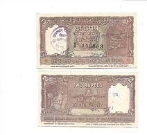 INDE / INDIA - 2 RUPEES NEUF AVEC TAMPON - Inde
